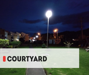 【Project】courtyard lighting Installation
