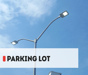 【Project】230W LED parking lot light installation in Canada